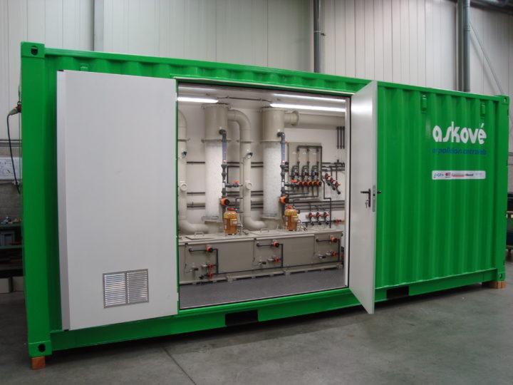 Askové presents mobile testinstallation for odor and emission removal